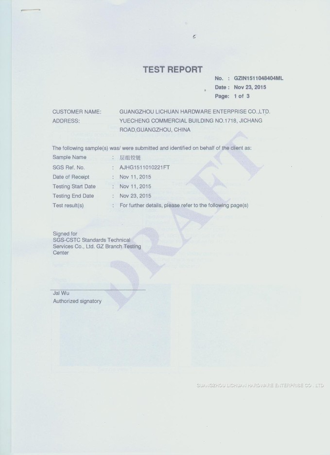 SGS TEST REPORT 4