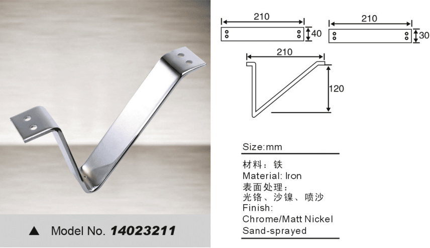 V shape leg for sofa bed hardware