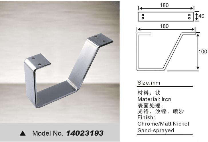 Hardware fitting leg for sofa bed
