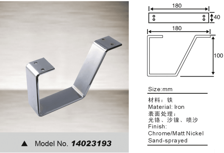 Hardware fitting leg for sofa bed