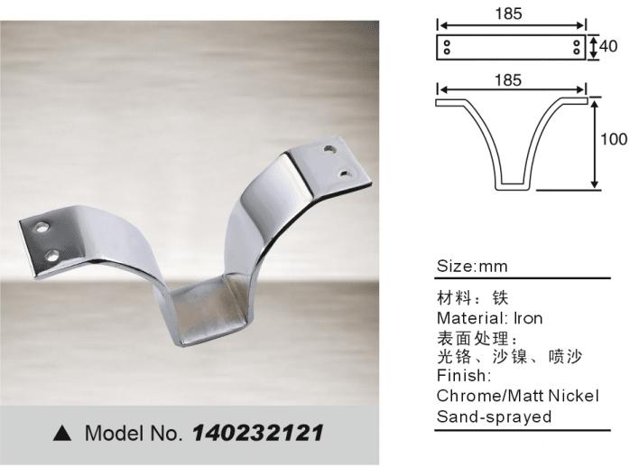 Metal sofa leg V shape feet for furniture