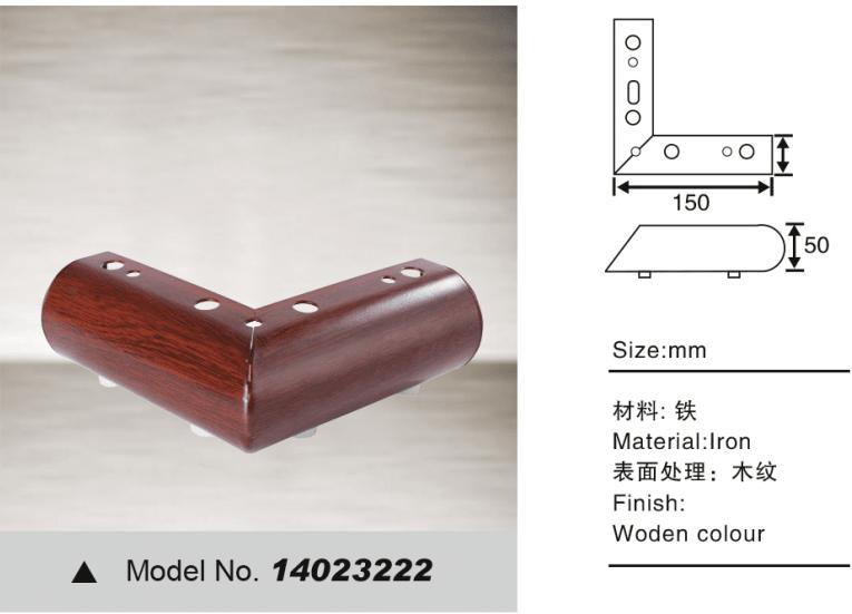 Decorative sofa leg for furniture hardware