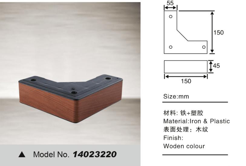 Metal leg for decorative sofa