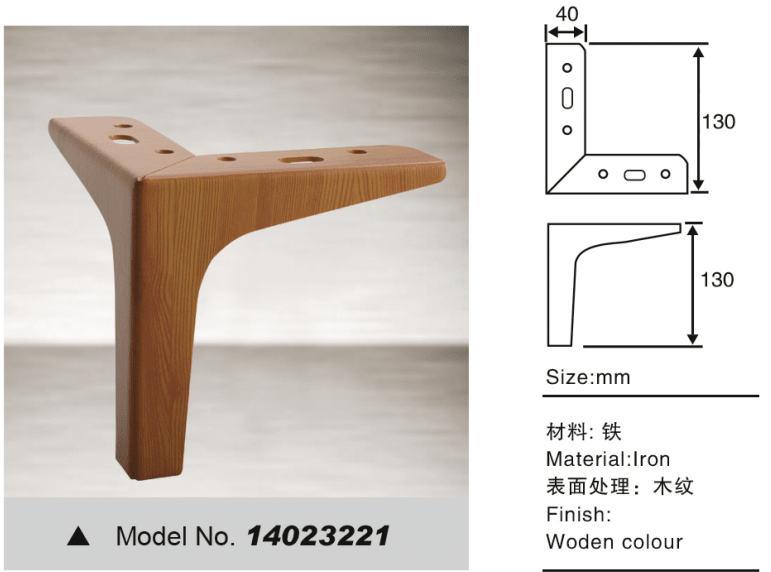 Metal leg with Y shape for sofa hardware
