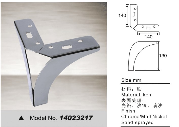 Y shape leg with iron for sofa bed