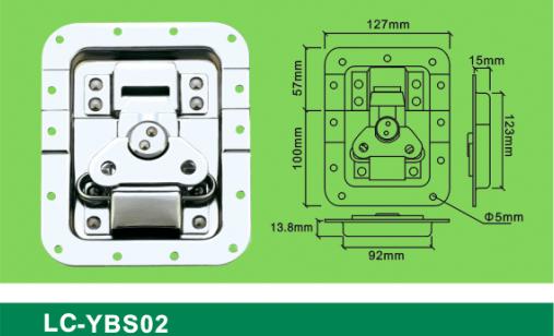 LC-YBS02 blank holder big flat padlock,Flight case road case hardware