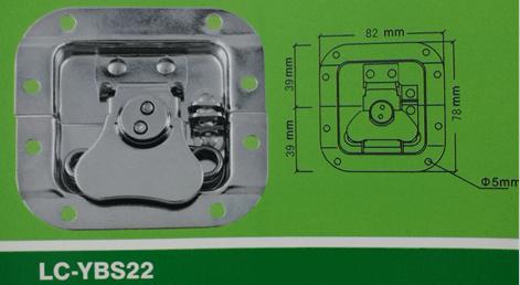 LC-YBS22 blank holder small Latch,Flight case road case hardware